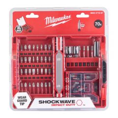 Set biți Milwaukee SHOCKWAVE™ IMPACT DUTY XL PZ - 70 buc.